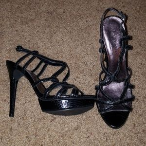 Boston Proper Caged Heels Size 8